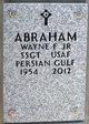 Profile photo:  Wayne F. Abraham, Jr