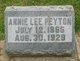 Profile photo:  Annie Lee <I>Alexander</I> Peyton