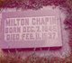 Profile photo:  Milton Chapin
