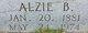 Profile photo:  Alzie Bell <I>Meredith</I> Markham