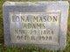 Profile photo:  Lona <I>Mason</I> Adams
