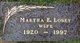 Martha Elizabeth <I>Duerbaum</I> Losey
