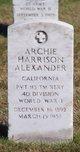 Archie Harrison Alexander