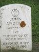 Pvt John M Anderle