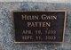 Helen <I>Gwin</I> Patten