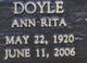 Ann Rita <I>Bernier</I> Doyle