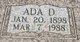 Profile photo:  Ada Davida <I>Albright</I> Young