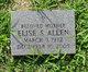 Profile photo:  Elise S Allen