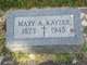 Profile photo:  Mary A. <I>Michael</I> Kayser