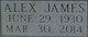 """Profile photo:  Alex James """"A.J."""" Vance"""