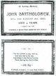 """Profile photo:  John """"Jackie"""" Bartholomew"""
