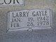Larry Gayle Chancellor