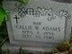 Profile photo:  Callie W. <I>Wilkerson</I> Adams
