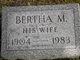 Profile photo:  Bertha M. Dwyer