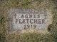 Profile photo:  Agnes Fletcher
