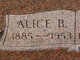 Profile photo:  Alice B <I>Strack</I> Brenneman