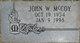 John Wesley McCoy