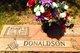 "Profile photo:  Wilbert Demond ""Bud"" Donaldson"