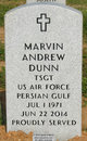 """Sgt Marvin Andrew """"Andy"""" Dunn"""