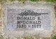 Profile photo:  Donald E. McDonald