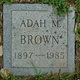 Profile photo:  Adah M Brown