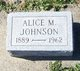 Profile photo:  Alice M. <I>Severs</I> Johnson
