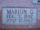 "Marion Garfield ""MG"" Lee"