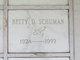 Profile photo:  Betty D. Schuman