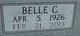 Profile photo:  Belle <I>Cooper</I> Adams