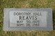 Profile photo:  Dorothy <I>Hall</I> Reavis
