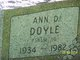 Profile photo:  Ann Darlena <I>Padgett</I> Doyle