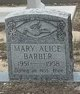 Mary Alice Barber