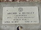 Profile photo:  Archie A. Beckley
