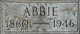 "Profile photo:  Abigail ""Abbie"" <I>Webster</I> Shores"