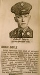 Profile photo: Spec John Francis Doyle