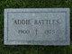 "Profile photo:  Adeline M ""Addie"" Battles"