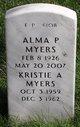 Profile photo:  Alma P Myers