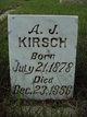 Profile photo:  A J Kirsch