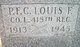 PFC Louis F Effley