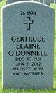 Profile photo:  Gertrude Elaine O'Donnell