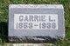 Profile photo:  Carrie L Allen