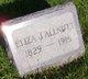 Eliza Jane <I>Henderson</I> Allnutt
