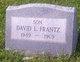 Profile photo:  David Lee Frantz