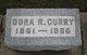 """Emma Isadora """"Dora"""" <I>Rigg</I> Curry"""
