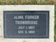 Profile photo:  Alma <I>Forker</I> Trowbridge