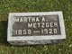 Martha A. <I>Snider</I> Metzger