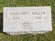 Margaret <I>Snider</I> Miller