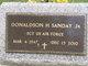 Sgt Donaldson H. Sanday, Jr