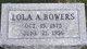 Lola Arlon <I>Venard</I> Bowers