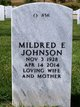 """Mildred E """"Elaine"""" <I>Parker</I> Johnson"""